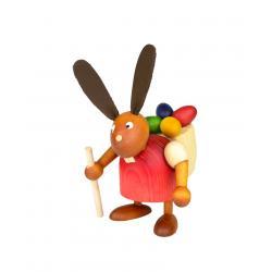 Drechslerei Martin - Hase mit Eikiepe rot, klein