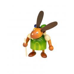Drechslerei Martin - Hase mit Eikiepe grün, klein