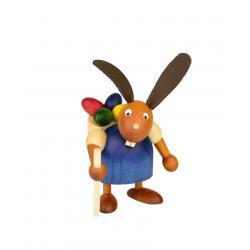 Drechslerei Martin - Hase mit Eikiepe blau, klein