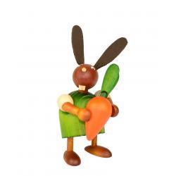 Drechslerei Martin - Hase mit Möhre grün, klein