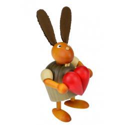 Drechslerei Martin - Hase mit Herz grau, klein