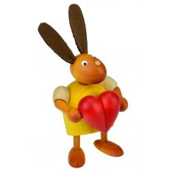 Drechslerei Martin - Hase mit Herz gelb, klein