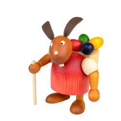 Drechslerei Martin - Hase mit Eierkiepe rot