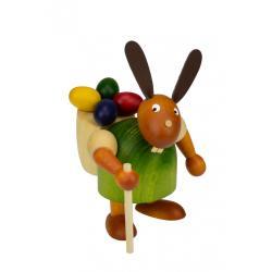 Drechslerei Martin - Hase mit Eierkiepe grün