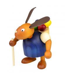 Drechslerei Martin - Hase mit Eierkiepe blau