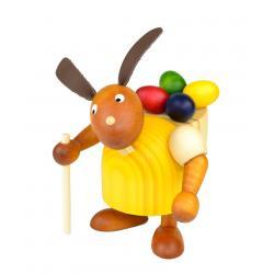 Drechslerei Martin - Hase mit Eierkiepe gelb