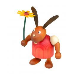 Drechslerei Martin - Hase mit Blume rot