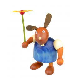 Drechslerei Martin - Hase mit Blume blau