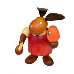 Drechslerei Martin - Hase mit Pinsel & Ei rot, groß