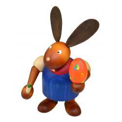 Drechslerei Martin - Hase mit Pinsel & Ei blau, groß