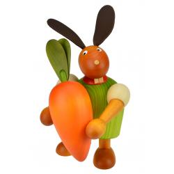 Drechslerei Martin - Hase mit Möhre grün, groß