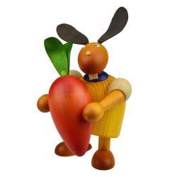 Drechslerei Martin - Hase mit Möhre gelb, groß