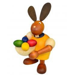 Drechslerei Martin - Hase mit Osternest gelb, groß