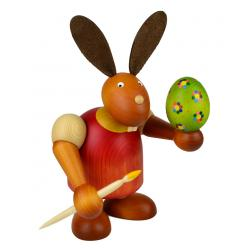 Drechslerei Martin - Hase mit Pinsel & Ei rot, groß maxi