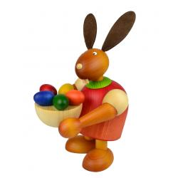 Drechslerei Martin - Hase mit Osternest rot, groß maxi