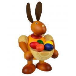 Drechslerei Martin - Hase mit Osternest gelb, groß maxi