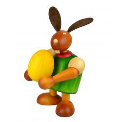 Drechslerei Martin - Hase mit Ei grün, groß maxi