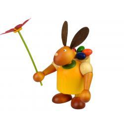 Drechslerei Martin - Hase mit Eikiepe & Blume gelb, groß maxi
