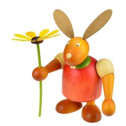 Drechslerei Martin - Hase mit Blume rot, groß maxi