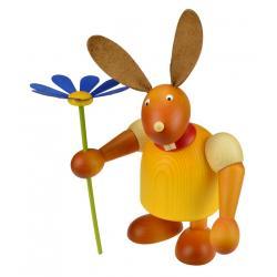 Drechslerei Martin - Hase mit Blume gelb, groß maxi