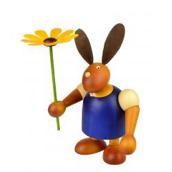 Drechslerei Martin - Hase mit Blume blau, groß maxi