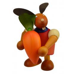 Drechslerei Martin - Hase mit Möhre rot, groß maxi