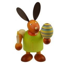 Drechslerei Martin - Hase mit Pinsel & Ei grün, groß maxi