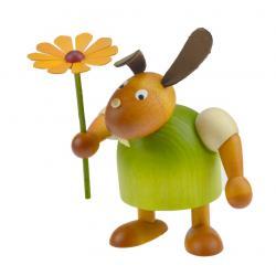 Drechslerei Martin - Hase mit Blume grün