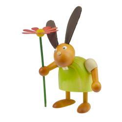 Drechslerei Martin - Hase mit Blume grün, klein