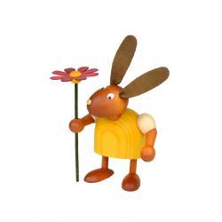 Drechslerei Martin - Hase mit Blume gelb