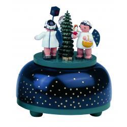 KWO - Spieldose, klein - Engel mit Geschenk