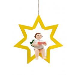 Ellmann - Engel im Stern mit Buch, groß 38 cm