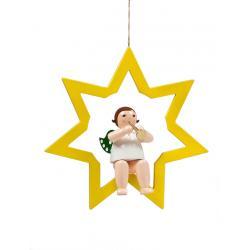 Ellmann - Engel im Stern mit Trompete, groß 38 cm