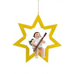 Ellmann - Engel im Stern mit Fagott, groß 38 cm