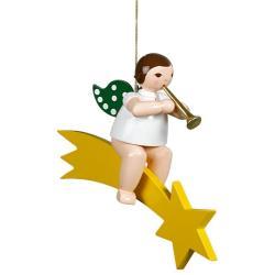Ellmann - Engel auf Schweif mit Trompete, groß 25 cm