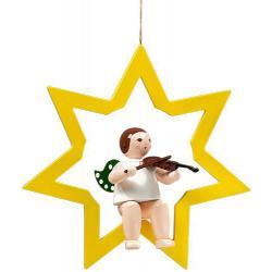 Ellmann - Engel im Stern mit Geige, groß 38 cm