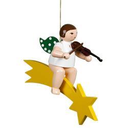 Ellmann - Engel auf Schweif mit Geige, groß 25cm