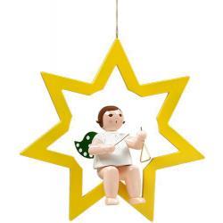 Ellmann - Engel im Stern mit Triangel, groß 38cm