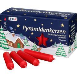 JEKA - Pyramidenkerzen, 50 Stück, rot