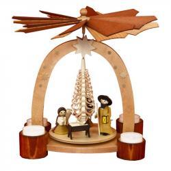 Ulmik - Bogenpyramide Teelicht Geburt