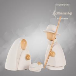 Hennig Figuren - Heilige Familie modern groß natur/weiss