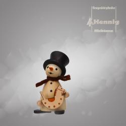 Hennig Figuren - Schneemann mit Schaukelpferd natur
