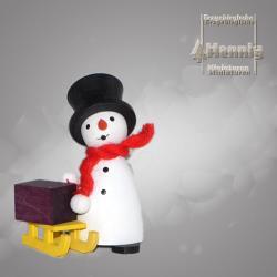 Hennig Figuren - Schneemann mit Schlitten