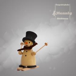 Hennig Figuren - Schneemann mit Ski natur