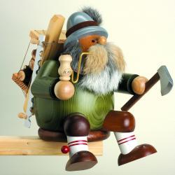 KWO - Räuchermann Kantenhocker Holzfäller, groß