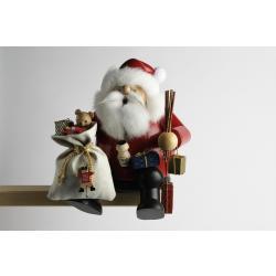 KWO - Räuchermann Kantenhocker Weihnachtsmann, groß