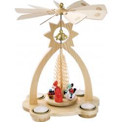 Richard Glässer - Glockenpyramide für Teelichte, Bescherung