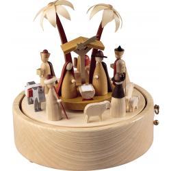 Richard Glässer - Spieldose im modernen Design Christi Geburt, 36er Spielwerk