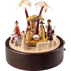 Richard Glässer - Spieldose  im modernen Design Christi Geburt, 28er Spielwerk
