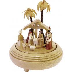 Richard Glässer - Spieldose  Christi Geburt natur, 18er Spielwerk